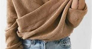 Crossed Front Chunky Wrap Sweater