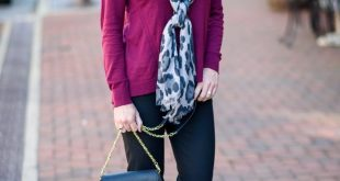 Fall Work Wear Outfit with LOFT Scuba Skinny Pants