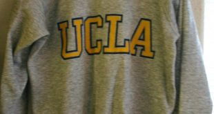 Vintage 70's UCLA Sweatshirt Vintage Size XL by tag but 22 Inches pit to pit No Wear At All Appears New!! Made in USA Fantastic Condition