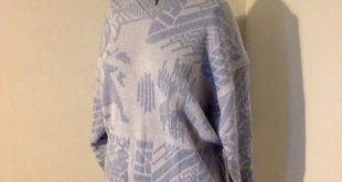 Vtg Nordic Wool Blend Christmas Reindeer Sweater M Fab vintage sweater! Blue and...