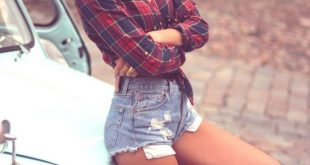 37 Incredible Flannel Outfit for Women In Spring