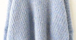 Pulli aus Mohair mit V-Ausschnitt, blau-Sheinside ...
