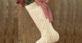 Christmas Stocking created from recycled vintage sweater