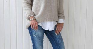 Ich mag diesen Look auf der Oberseite, aber nicht mit einem Pullover mit V-Ausschnitt