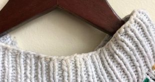 Vintage knit sweater Super fun and comfy knit. Some discoloration on neckline, p...
