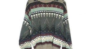Vintage sweater, Vintage Scandinavian jumper, Oversized hipster jumper, Knit jumper, Wool sweater, Cosby sweatshirt, Stripped jumper