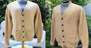 1970's L.L. Bean Wool Cardigan Sweater Mens Lambswool And Pure Camel Hair Grandpa Preppy Suede Elbow Patches USA Camel Tan Medium Large