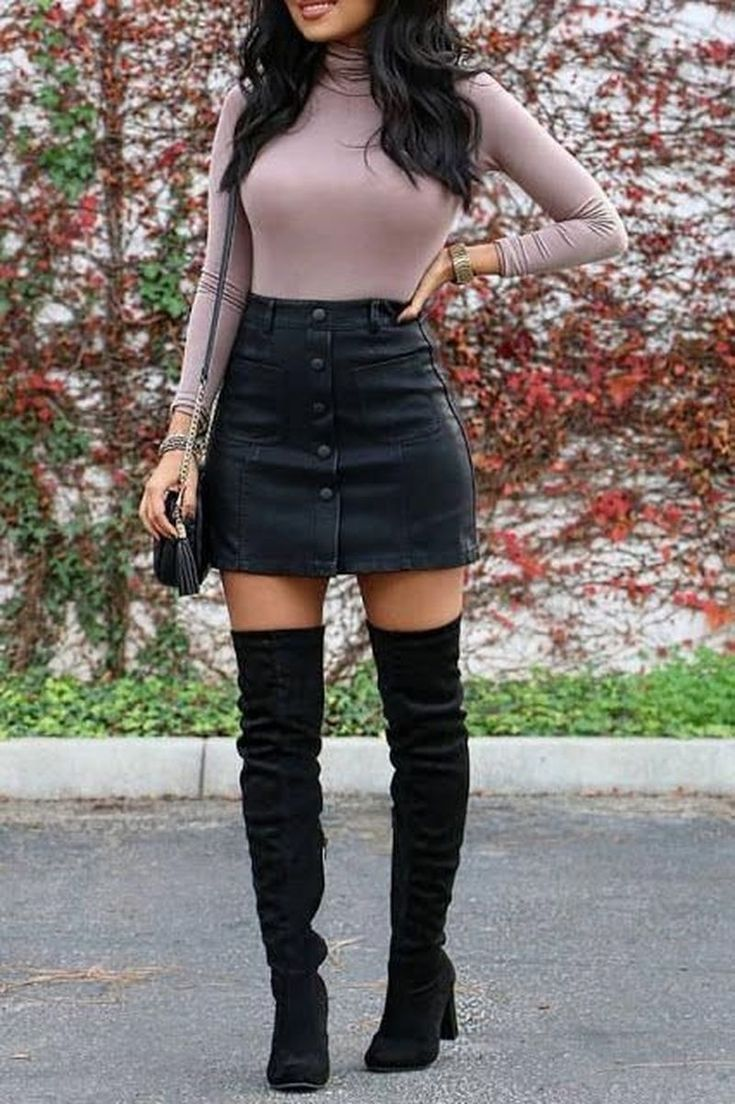 29 Cute Mini Skirt for Teen Fashion in Fall - 2019