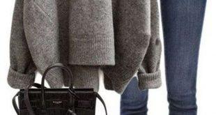36 stilvolle Pullover Outfit für den kalten Winter