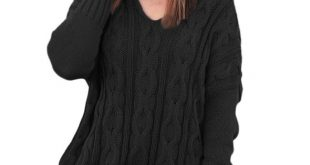 Black Oversized Cozy up Knit Sweater