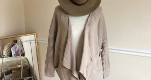 DEBUT Oversized Tan Draped Boho Sweater S/M Debut tan Oversized Draped Cardigan ...