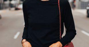 Fashion Jackson Wearing Everlane Black Cashmere Sweater Everlane Relaxed Jeans C...
