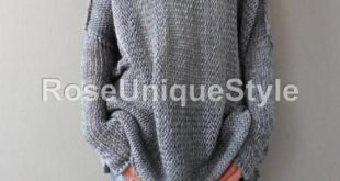 Grey oversized slouchy tunic