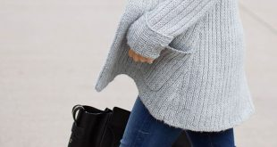 Oversized Knits Tall boots & oversized cozy sweaters The post Oversized Knits ...