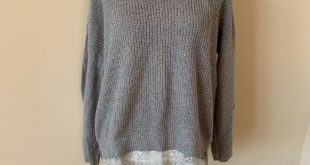 ❤️Pins and needles knit sweater with lace hem #810 Anthropologie Pins and Ne...