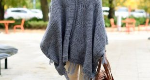 Plus size gray poncho sweater cape hand knitted in alpaca wool, Unique gift for woman