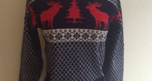 Spotted while shopping on Poshmark: Vintage 40s Wool Reindeer Snowflake Sweater ...
