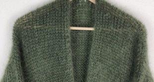 Tutorial - Strickanleitung - Einfache Strickjacke im Patentmuster von oben stricken