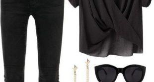 Zeitlose schwarze und weiße Outfits